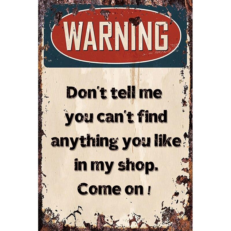 Ostrzeżenie Parking tylko metalowy plakat znak blaszany Vintage Parking znak naklejka ścienna dekoracyjne tablice Retro garaż dekoracje ścienne do domu