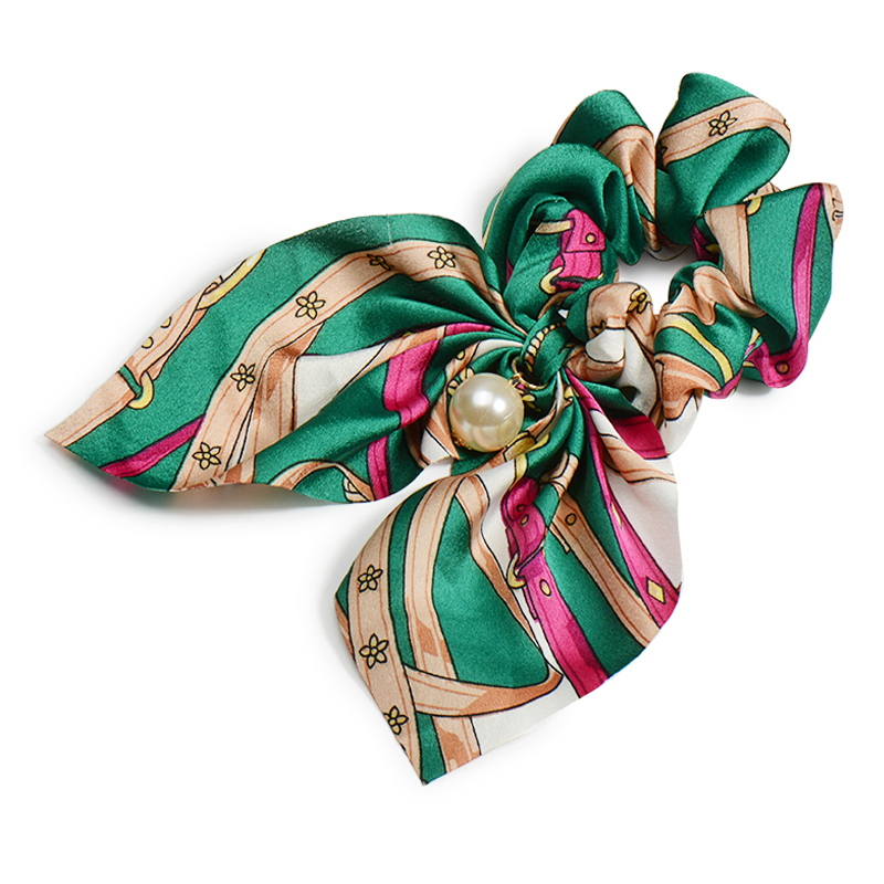 Mousseline de soie Cheveux Chouchous Femmes Mode Perle élastique pour queue de cheval Cheveux Cravate Cheveux Corde Élastiques Cheveux Accessoires couvre-chef en noeud 12