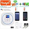 Wofea Беспроводной Wi-Fi и GSM сигнализация Система RFID бирка домашняя охранная сигнализация комплект tuyasmart приложение встроенный сирена