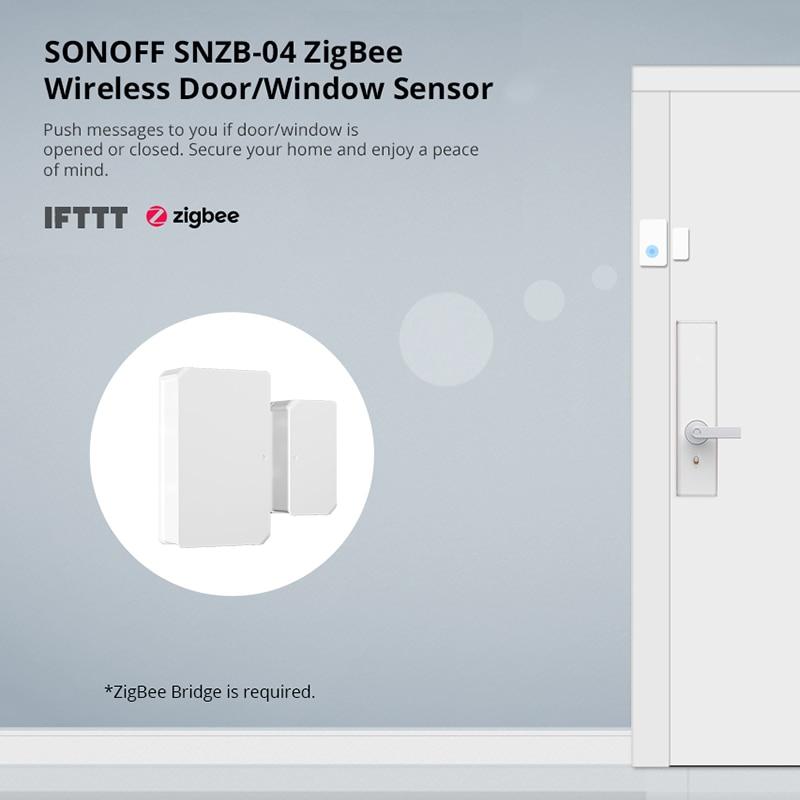 H511e90bc62024eac831979b6da88f9beb - SONOFF ZigBee Bridge Wireless Door/Window Sensor Alert Notification Via EWeLink APP Control Smart Home Security Switch
