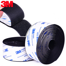 Fita adesiva de velcros com cola para diy 16 110mm 50cm gancho autoadesivo da fita do prendedor de velcros forte e laço