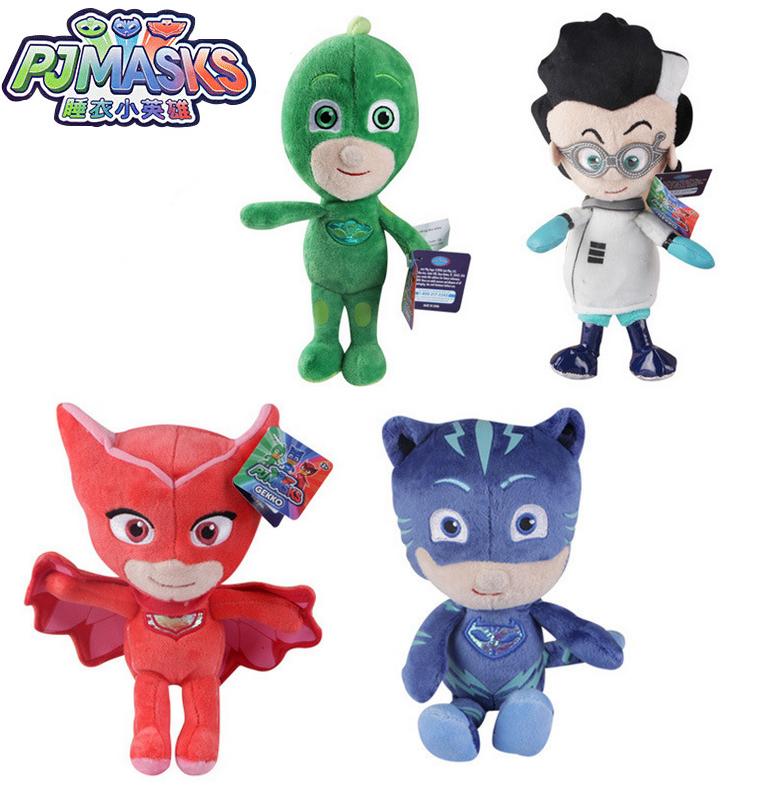 15/25/35cm Cartoon Figures Pj Catboy Owlette Gekko Cape Masks Children Pj Plush Masks Juguete Kids Toys For Children Best Gift