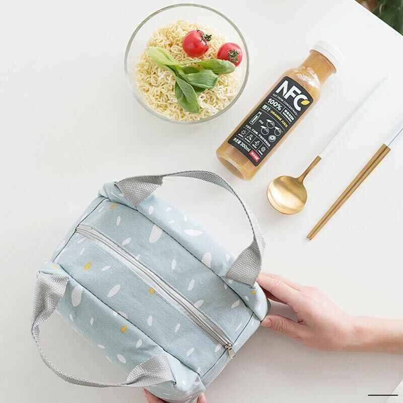 Büyük yalıtımlı öğle yemeği çantası kadın erkek termal soğutucu yemek kabı piknik depolama