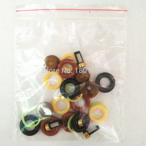 Image 5 - 4 مجموعات حاقن وقود طقم تصليح/أجزاء حاقن لبوش العالمي بما في ذلك مايكرو تصفية اورينج البلاستيك طوقا غطاء زجاجة