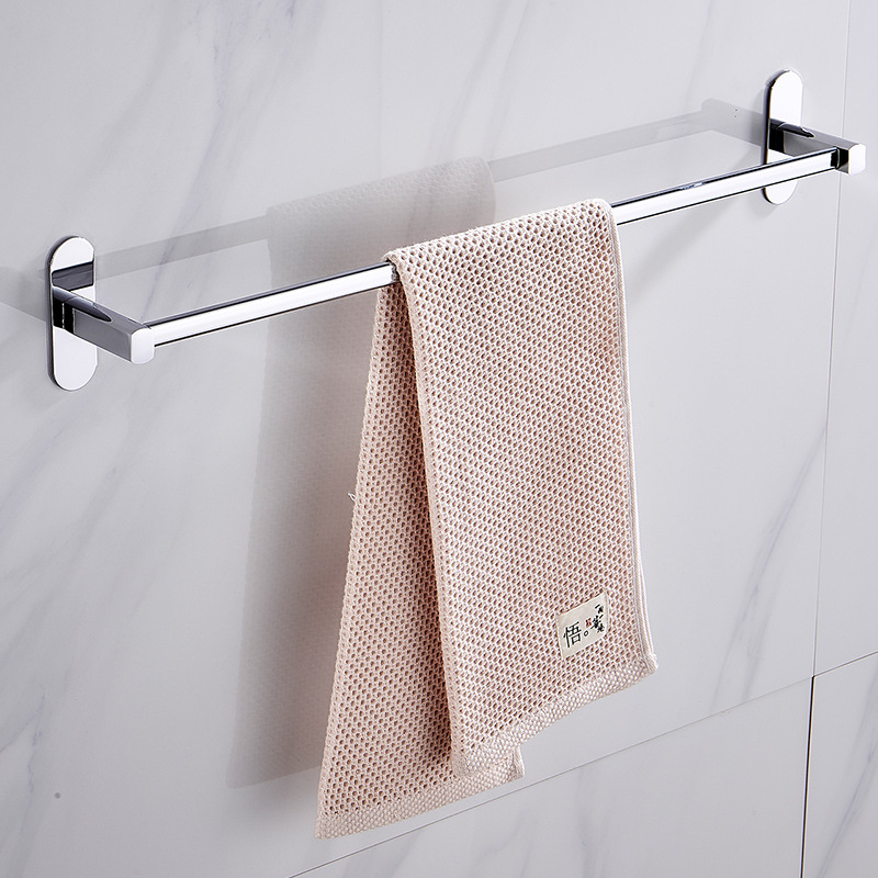 Hole-Punched Stainless Steel Chrome Towel Rack Hook Wholesale Toilet Bathroom Toilet Towel Bar Bathroom Hook Unit