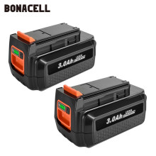Para black & decker 36v/40v 3000mah li-ion bateria recarregável lbxr36 bl2036 lbx2040 lst136, lst420, lst220 l50