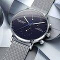 GUANQIN, мужские часы, Топ бренд, Роскошные, модные, ультра-тонкие, кварцевые часы, водонепроницаемые, повседневные, спортивные, наручные часы, ...