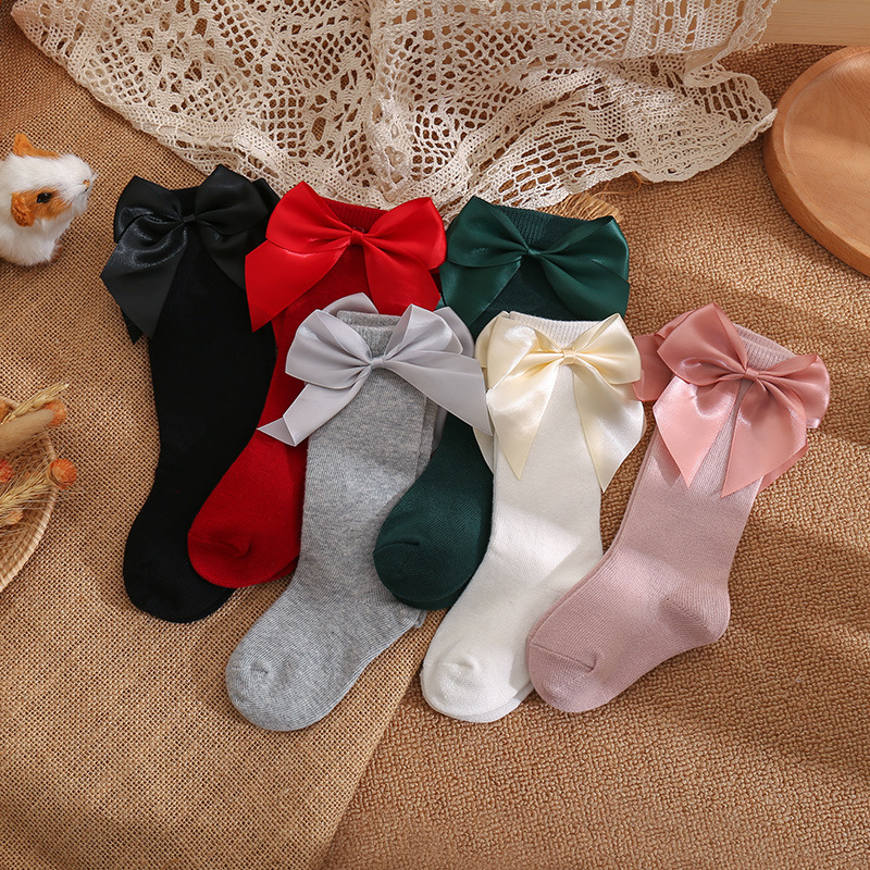socks baby cotton toddler resistant lace for cute kids baby boys girls cotton soft newborn infant long socks suit for 0-5 years