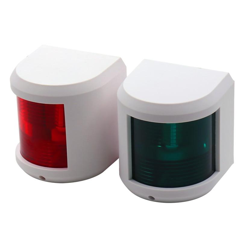 Marine Boat Yacht 12V//24V Red/&Green LED Navigation Signal Light Safety Lamp