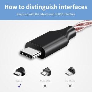 Image 5 - Медный Hi Fi кабель для обновления кабеля, USB Type C 3,5 мм усилитель для наушников, аудиоадаптер DAC для Huawei P20 OnePlus Samsung N309