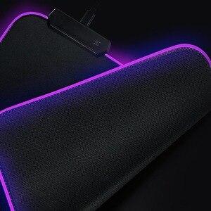 Image 4 - مخصص لتقوم بها بنفسك لوحة الماوس RGB LED لوحة ماوس للألعاب مكتب للحاسوب شخصي حصيرة المطاط زلة للاعبين CSGO خزان العالم سرعة التحكم dota2