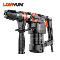 LOMVUM 28MM Electric Rotary Hammer Drill 220V Impact  Hammers Indurstial 1300W Electrical BREAKER AC Power Tools 50hz