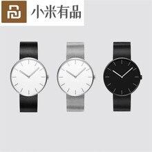 Youpin TwentySeventeen Reloj de pulsera de cuarzo analógico, 39mm, luminoso, resistente al agua hasta 3ATM, elegante, para hombre y mujer, banda de reloj de lujo