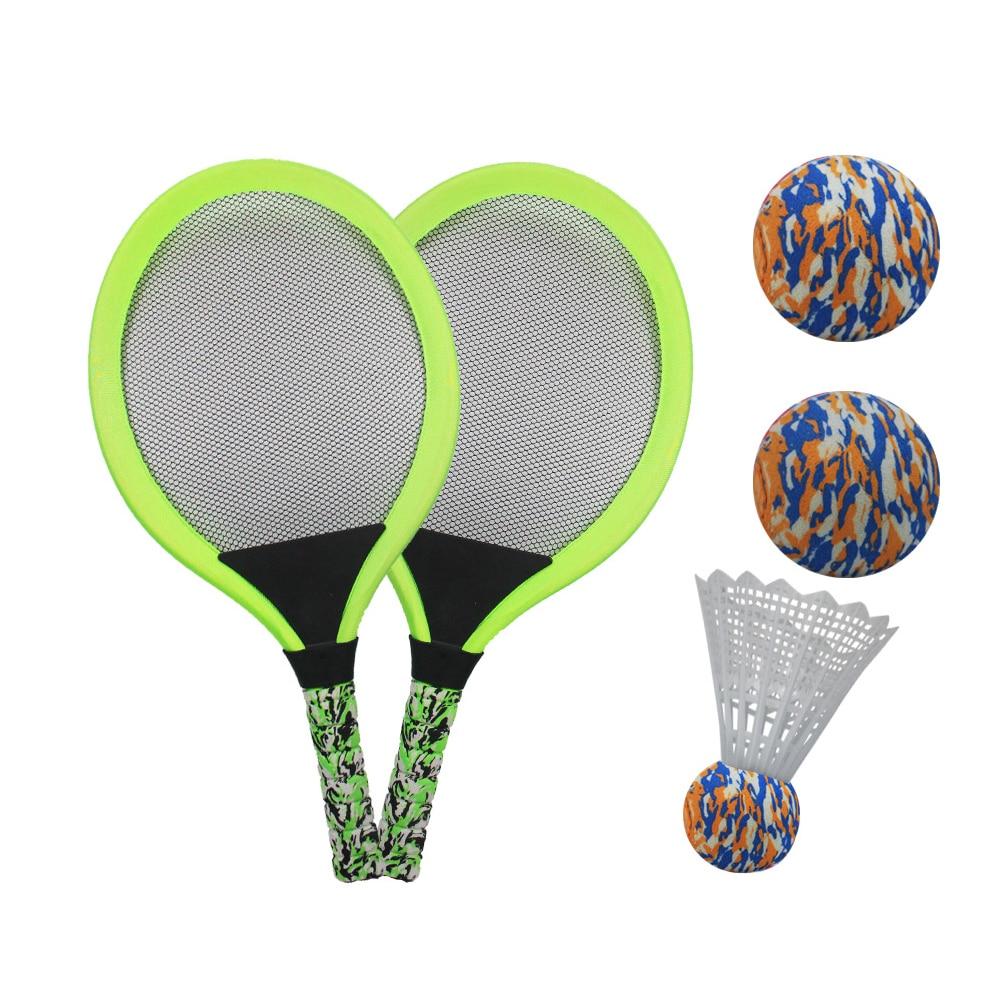 Portable plage jouet débutant Badminton balle enfants cadeau Sports de plein air intérieur Tennis raquette ensemble Parent-enfant jeu drôle formation
