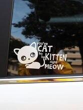 Zttzdy 18.5*9.3 cm você tem gato para ser gatinho etiqueta do carro decalque do vinil direito meow preto/prata ZJ4-0177