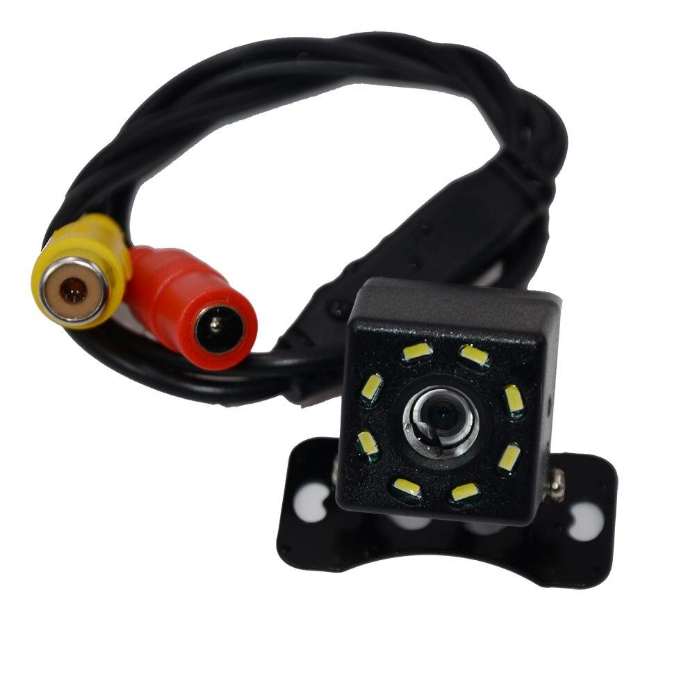 BYNCG Автомобильная камера заднего вида, 4 светодиодный, ночное видение, Реверсивный, Авто парковочный монитор, CCD, водонепроницаемая, 170 градусов, HD видео