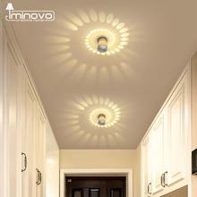 Светодиодный настенный светильник RGB, светильник для крыльца, современный, встраиваемый, 3 Вт, красочные бра, фойе, вечерние, декор для гостиной, коридора, внутреннее освещение