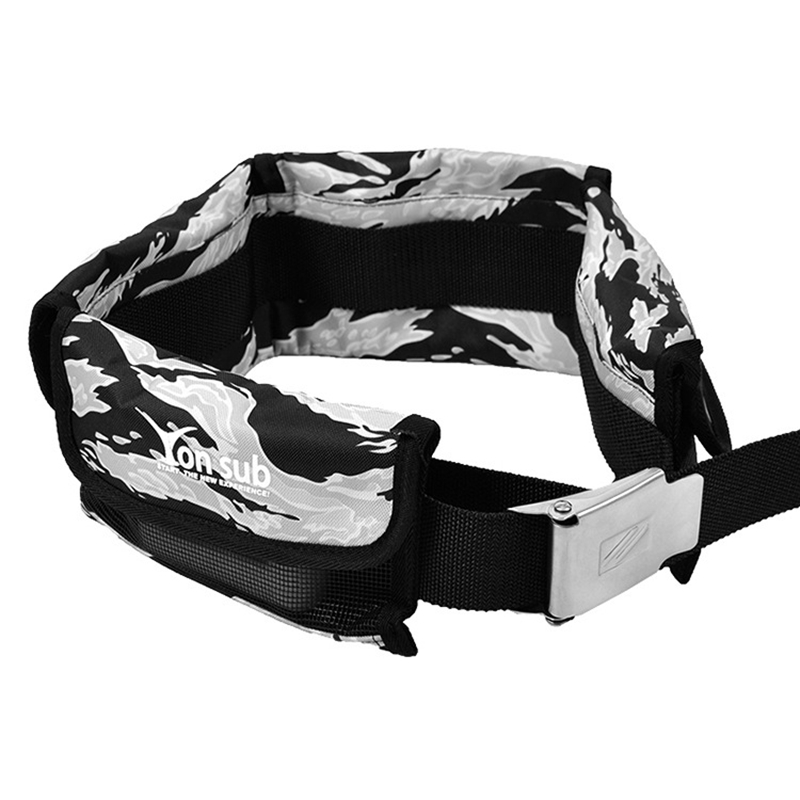 Yon Sub Pocket Adjustable Diving Weight Belt With 4 Pocket Buckle Water Sport Equipment For Underwater Hunting
