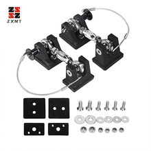 ZXMT 1Pair Car Hood Engine Cover Lock Bracket Latches Buckle Anti-Theft Holder Catch For Jeep Wrangler JK 07-18