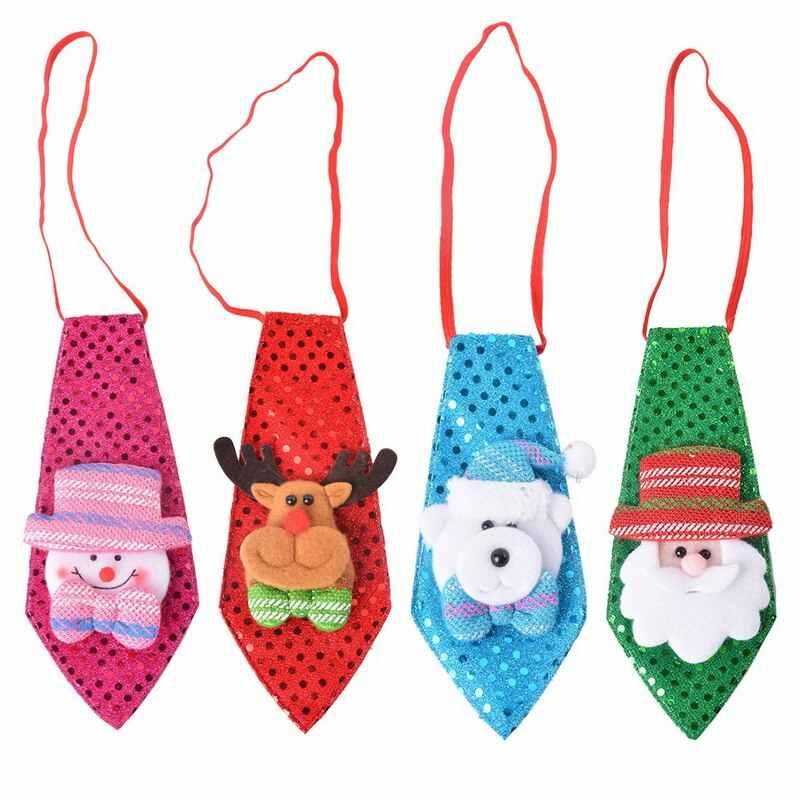 Carino Chriatmas appeso Decorazione di Goccia Cravatta Ornamenti Red Deer Rosa Pupazzo di Neve Verde Cravatte Partito di Nuovo Anno del Regalo Per La Casa di Natale