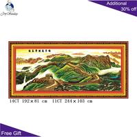Joy Sunday Great Wall Embroidery F007 14CT 11CT Counted and Stamped Home Decoration Chinese Great Wall Cross Stitch Kits