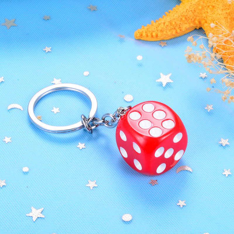 חמוד סוכריות Muticolor קוביות keychain תיק תליון creative מפתח טבעות עבור אביזרי o rmen נשים קטן מתנת תליון מפתח שרשרות