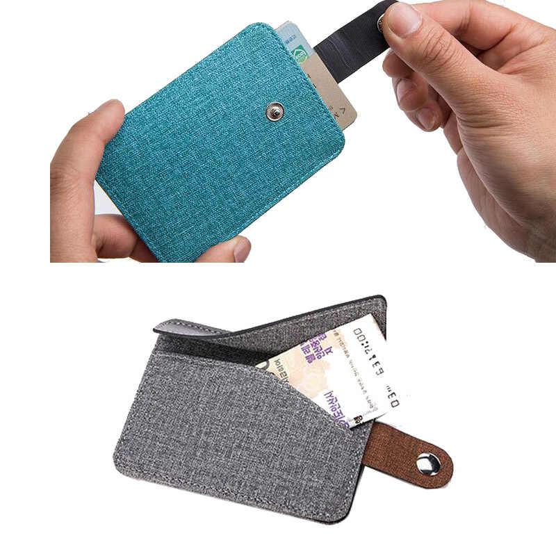 KUDIAN oso minimalista titular de la tarjeta de crédito cartera fina monedero hombres mujeres estuche para tarjeta de autobús organizador monedero bolsillo BID144 PM49