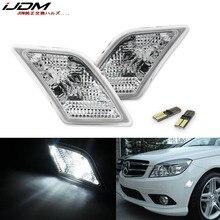 IJDM светодиодная лампа, комплект передних боковых габаритных светильник для 2008 11 Mercedes Pre LCI W204 C250 C300 C350 C63 AMG, замена OEM Sidemarker ламп