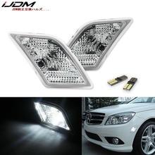 iJDM LED Bulb Front Side Marker Light Kit For 2008 11 Mercedes Pre LCI W204 C250 C300 C350 C63 AMG, Replace OEM Sidemarker Lamps