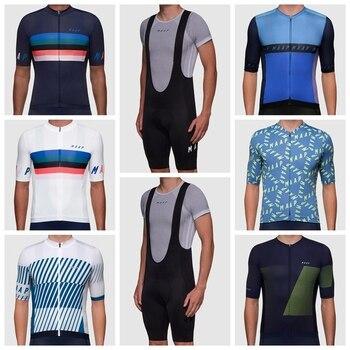 2020 Hombres de Jersey Maap negro transpirable Manga corta jersey carretera ciclismo...