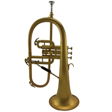 Professional brushed metal gold plated Tone Bb Flugelhorn