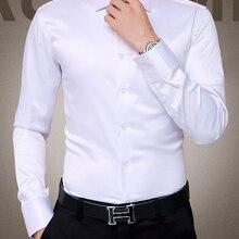 Tuxedo Shirt Wedding-Dress Long-Sleeve Silk Men's Plus-Size Luxury New 5XL Cotton Mercerized