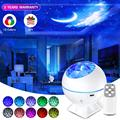 Star Projector Light Sky Moon Lights Galaxy Ocean Projection Lamp Bedroom Night Light with Remote Control for Kids Baby Gifts