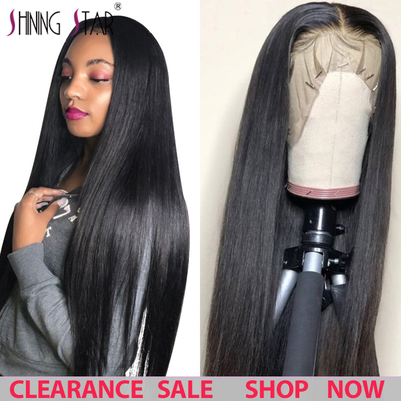 13*4 Lace Front Human Hair Wigs Straight Pre Plucked Hairline Lace Frontal Wigs Baby Hair Glueless Wigs Brazilian 100% Remy Hair