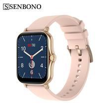 SENBONO – montre connectée PK P8, bracelet électronique, moniteur d'activité physique, de pression artérielle et de fréquence cardiaque, étanche IP67, écran tactile 1.7 pouces