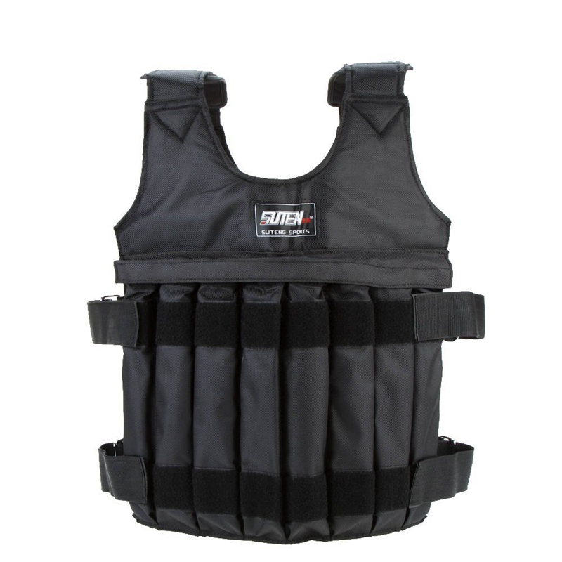SUTEN Max 20 Kg Of Load Weight Adjustable Weighted Vest Jacket Vest Exercise Boxing Training Invisible Weightloading Sand Clothi