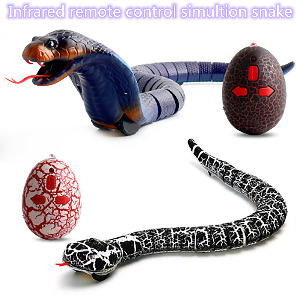 RC infrared Remote Control Snake And Egg Rattlesnake Animal Trick Terrifying Mischief Toys for Children Funny Novelty Gift(China)