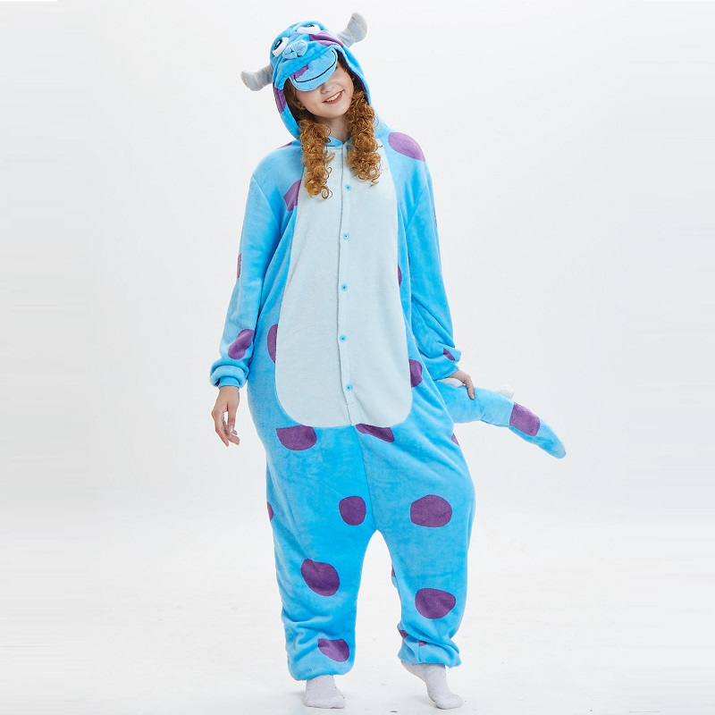 Monster-Inc-Sullivan-Onesies-For-Adults-monstruos-university-Kigurumi-Animal-Pajamas-Flannel-Warm-Long-Sleeve-Hooded