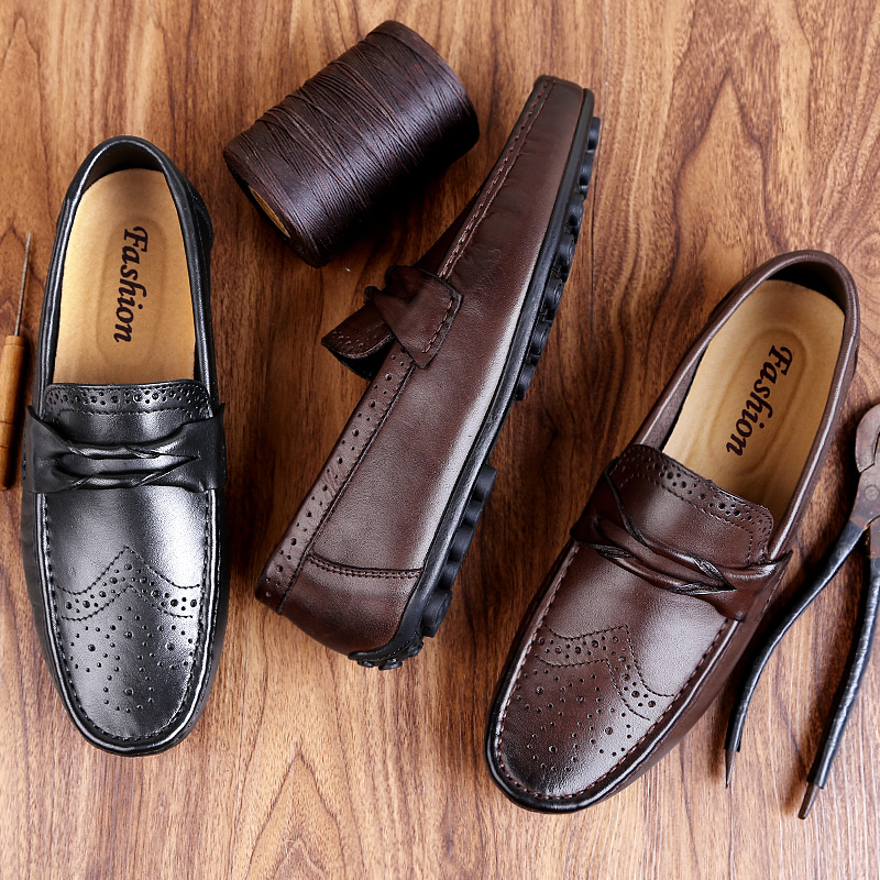 Men Loafers Shoes Genuine Leather Casual Sneakers Male Fashion Carved Boat Footwear Soft Dress Party Shoes Men Loafers Shoes Genuine Leather Casual Sneakers Male Fashion Carved Boat Footwear Soft Dress Party Shoes Men Chaussure Homme