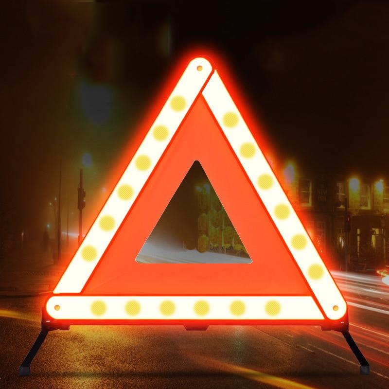 Автомобильная треугольная Светоотражающая полоса автомобильный стоп-сигнал штатив фототреугольник аварийПредупреждение ительный знак с...