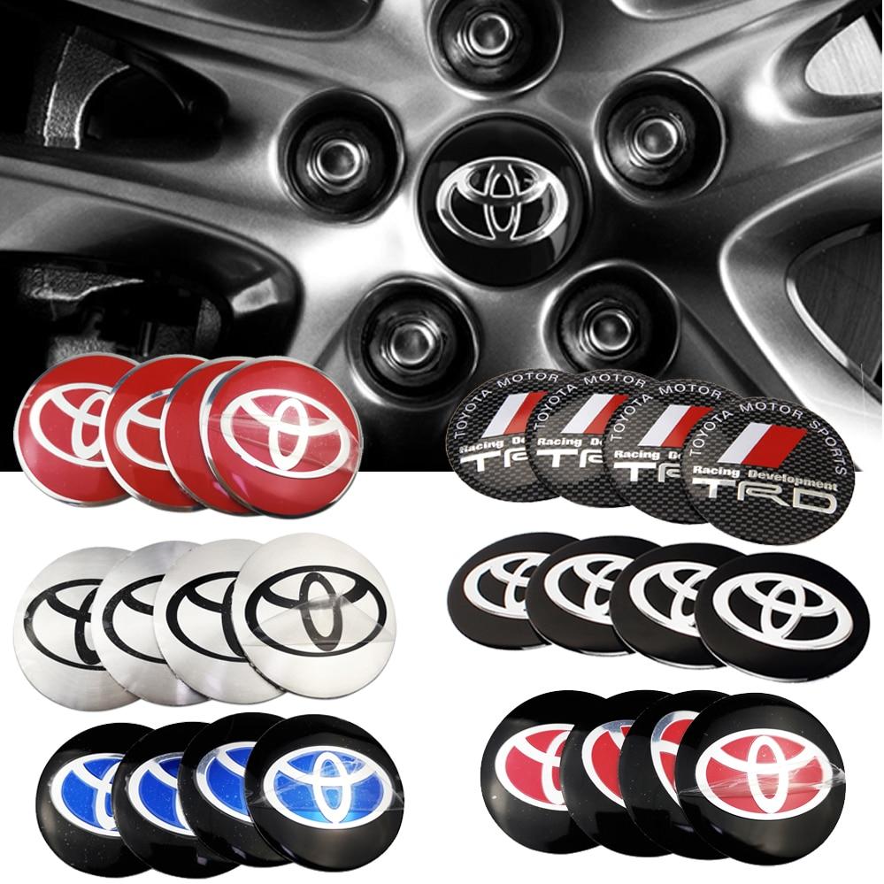 For Toyota Camry Highlander Corolla Rav4 Tundra Crown Land Cruiser Tacoma Prado Car Wheel Center Hub Caps Sticker Accessories