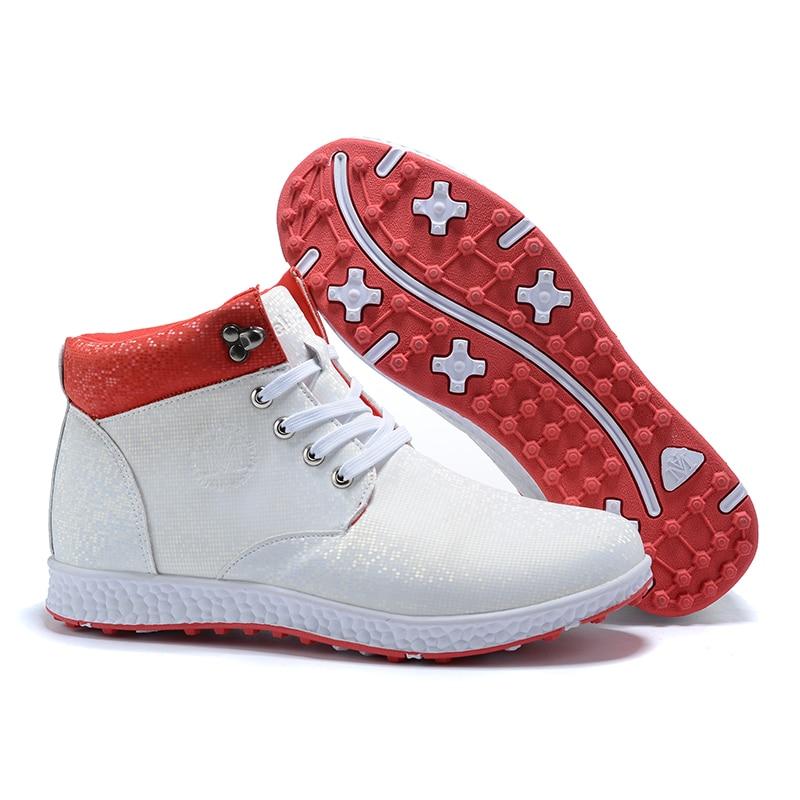 Botas de Golfe Sapatos de Golfe Tênis para Golfistas Nova Womens Profissional Alta Tornozelo Confortável Anti Deslizamento Senhoras Andando Tênis