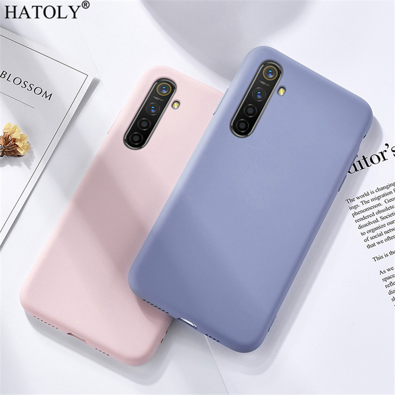 For <font><b>Oppo</b></font> Realme X2 <font><b>Case</b></font> Soft Luxury <font><b>Liquid</b></font> Silicone Smooth Phone Bumper <font><b>Case</b></font> Realme X2 Protective Back <font><b>Cover</b></font> For <font><b>Oppo</b></font> Realme X2 image