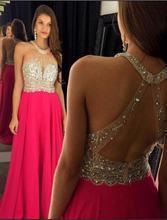 Женское шифоновое вечернее платье с карманами длинное розово