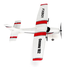 Anfänger Fernbedienung RC Segelflugzeug Flugzeug 150 meter Fliegen Schaum EPP 2,4G controller FX801 Cessna 182 kinder Spielzeug