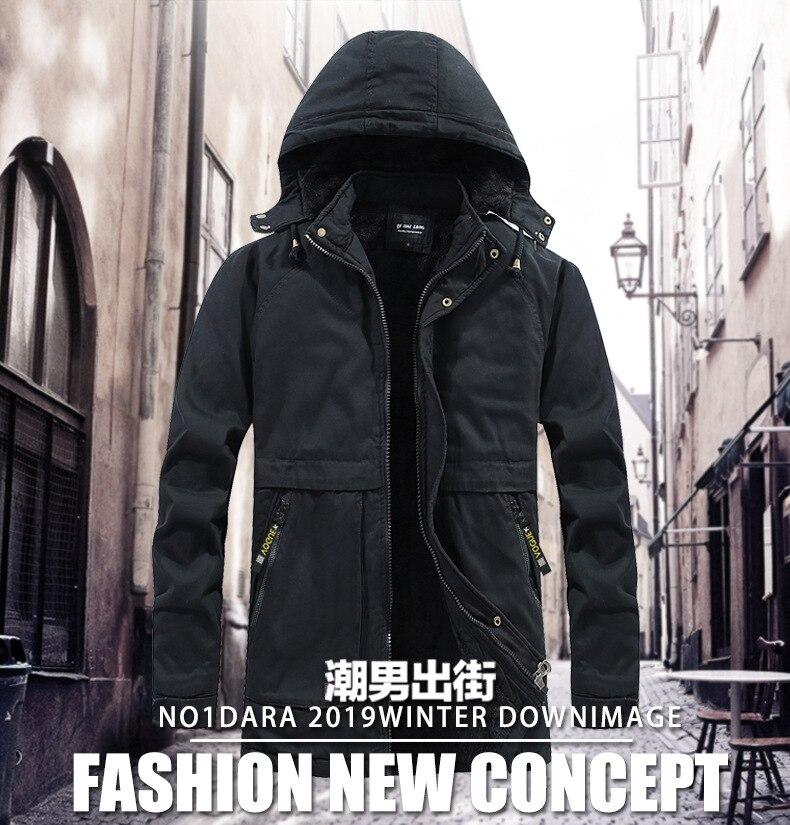 Lui-même veste d'hiver pour homme hommes vestes et manteaux Plus velours épaississement sweat à capuche tenue décontracté livraison directe