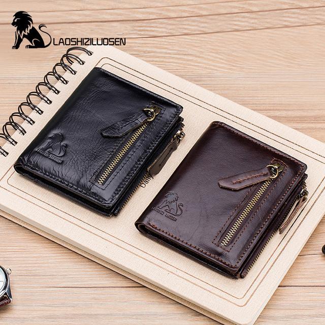 Leather wallet card holder