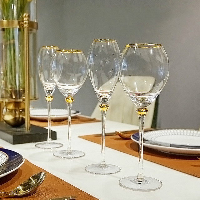 2Pcs Retro  Wine Glass  2