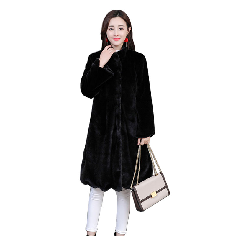 New Luxury Long 6XL Plus Size Factory Real Price Genuine Rabbit Real Fur Coat Women Fur Jacket New Winter