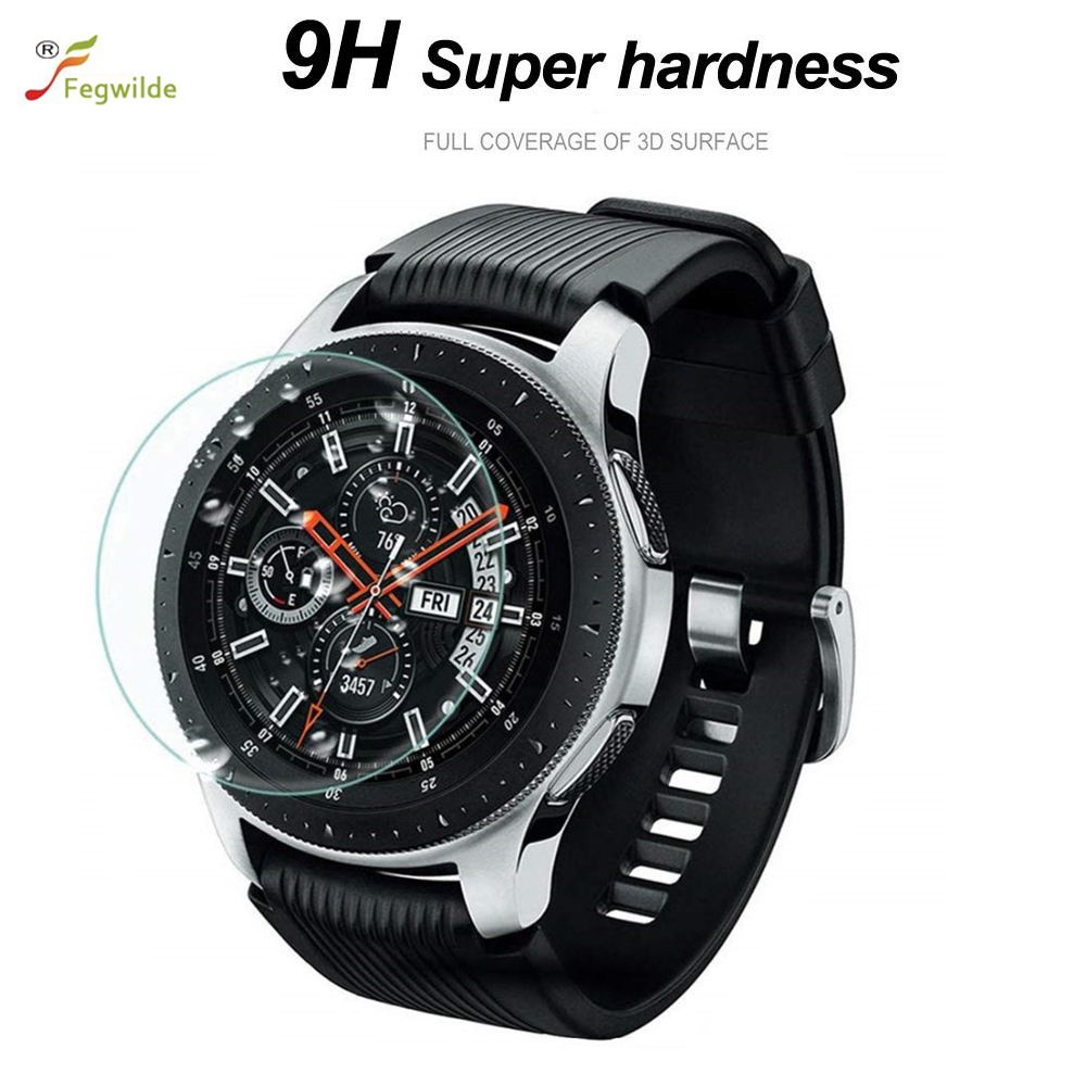 Gear S3 Frontier Strap For Samsung Galaxy Watch 46mm 42mm Band Gear S3 Frontier Screen Protector Film 9H 2.5D Tempered Glass